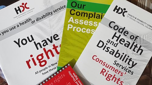 Leaflets relating to the Code of Rights